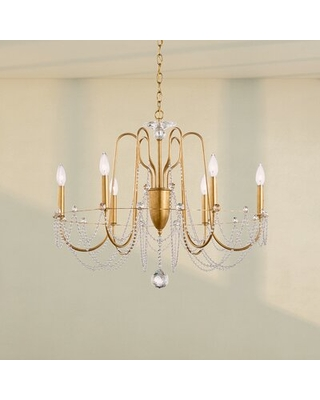 Esmery 6 - Light Candle Style Classic/Traditional Chandelier with Crystal Accents