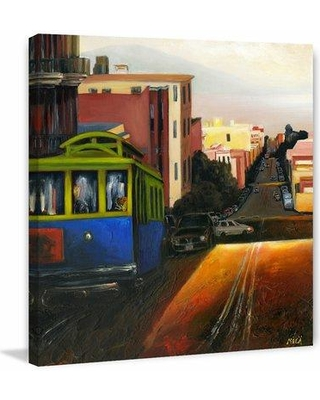 """Marmont Hill 'Twilight in the City' Painting Print on Wrapped Canvas MH-MWW-MICA-14-C- Size: 32"""" H x 32"""" W x 1.5"""" D"""