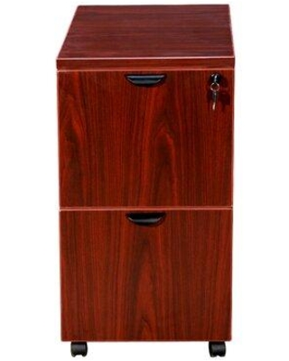 Symple Stuff Patchen 2-Drawer Mobile Vertical Filing Cabinet X112758892 Color: Mahogany