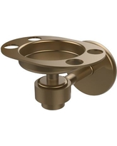 Allied Brass Continental Toothbrush & Tumbler Holder 7126 Finish: Brushed Bronze