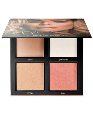 HUDA BEAUTY 3D Cream and Powder Highlighter Palette, One Size , Pink Sand Edition