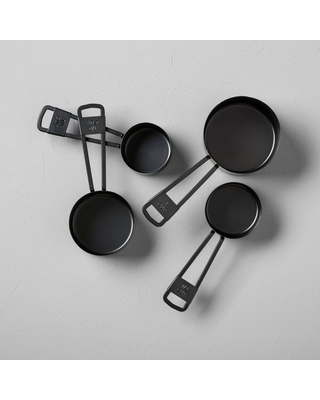 4pc Measuring Cup Set Black - Hearth & Hand with Magnolia