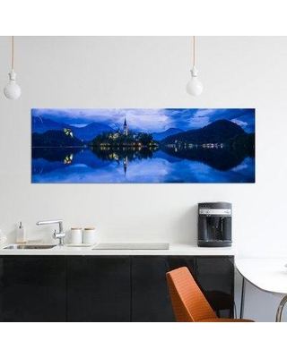 "East Urban Home 'Lake Bled Blue Bled Slovenia' Graphic Art Print on Canvas UBAM1900 Size: 20"" H x 60"" W x 1.5"" D"