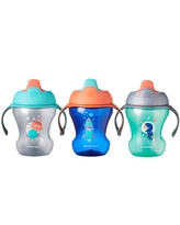 Tommee Tippee Infant Trainer Sippee Cup Boy - 3pk/8oz Total 7+ Months - Blue