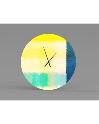 Find Big Savings On East Urban Home Scully Wall Clock Metal In Yellow Size Large Wayfair 3a5eece762114fabb64321d81790e805