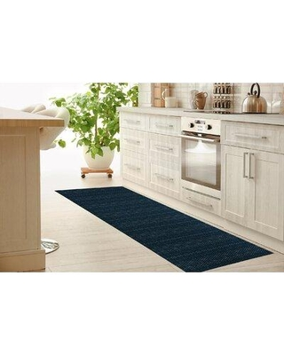 """Foundry Select Northwoods Kitchen Mat W002503543 Mat Size: Rectangle 2'6"""" x 8' Color: Navy"""
