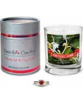 Daniella's Candles Honeysuckle Jasmine Ring Size 8 Jewelry Scented Jar Candle CC100109-6