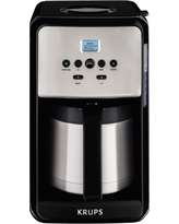 Krups Savoy Programmable Thermal Filter Coffee Maker, Black