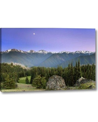 "Millwood Pines 'WA Olympic NP Moonrise Viewed from Deer Park' Photographic Print on Wrapped Canvas BF152202 Size: 21"" H x 32"" W x 1.5"" D"