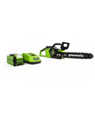 Greenworks 14-Inch 40V Chainsaw 2.5Ah Battery and Charger Included 2012802
