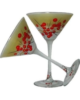Golden Hill Studio Berries 'n Branches Martini Glass WC221003