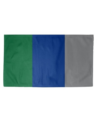 Seattle Throwback Football Blue/Gray/Green Area Rug