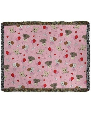 Shop For East Urban Home Festive Valentine Day Cotton Throw Cotton In Pink Red Brown Size 52 W X 37 L Wayfair 2c3186e3a14946e1b974b648c76b1b4b