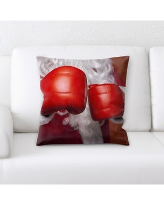 Conanso Santa Claus Boxing Gloves Throw Pillow The Holiday Aisle