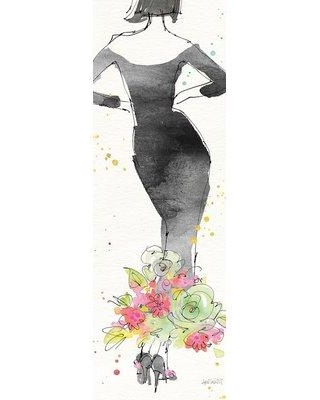 "East Urban Home 'Floral Fashion I' Graphic Art Print on Wrapped Canvas ERNI4405 Size: 36"" H x 12"" W x 1.5"" D"