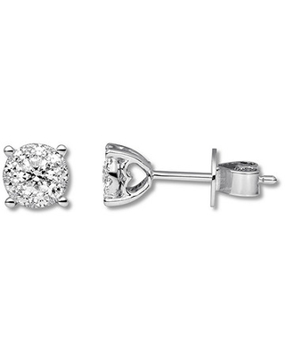 0cd0c100b Don't Miss This Deal: Diamond Earrings 1/3 ct tw Round-cut 10K White ...