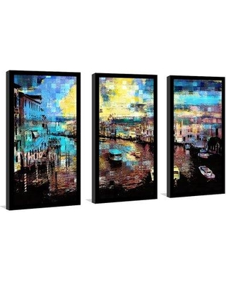 "East Urban Home 'Venice Italy IV' Framed Graphic Art Print Multi-Piece Image on Glass EABM1991 Size: 25.5"" H x 40.5"" W"