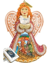 The Holiday Aisle Fifield Noah's Ark Angel Ornament Figurine with Scenic Painting THLY6591