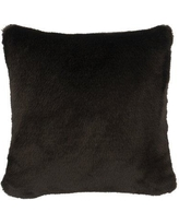 Wooded River Faux Fur Throw Pillow WD901 Color: Black Sable