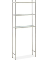 Metal Over the Toilet Etagere, Polished Nickel finish