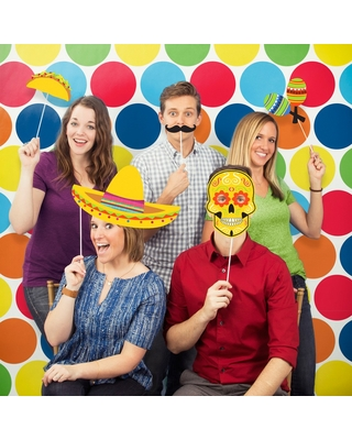 Fiesta Photo Booth Kit, Multi-Colored
