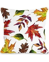 """Gracie Oaks Roncy Fall Leaves Throw Pillow GRKS8251 Size: 18"""" x 18"""""""