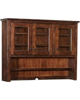 Benchwright Buffet Hutch, Rustic Mahogany stain