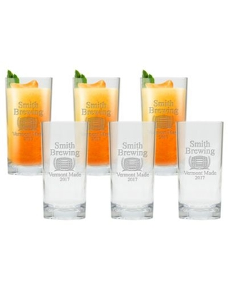 Carved Solutions Brewing Highball Glasses (Set of 6)
