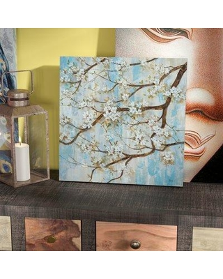 """World Menagerie 'Spring in Bloom' Oil Painting Print on Wrapped Canvas WLDM6077 Size: 16"""" H x 16"""" W x 1.5"""" D"""
