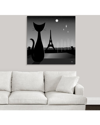 """GreatBigCanvas """"Eiffel Tower""""by Donna Mibus Canvas Wall Art, Multi-Color"""