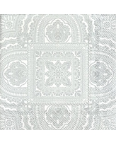 20-Count Celebrate the Home Moiree 3-Ply Paper Luncheon Napkins Silver