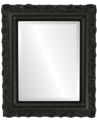 """House of Hampton Winegar Framed Rectangle Accent Mirror TORM1015 Size: 35"""" H x 25"""" W Finish: Matte Black"""