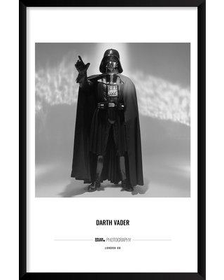 """Artography Limited 'Darth Vader' Framed Photographic Print Poster BI033276 Size: 37"""" H x 25"""" W x 1.25"""" D"""