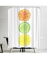 East Urban Home Jetty Printables Citrus Trio Shower Curtain URBR4920