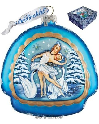 The Holiday Aisle Swan Lake Rainbow Glass Ornament Holiday Splendor Collection IEBZ4153