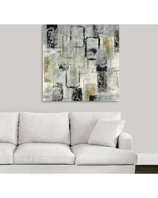 """36 in. x 36 in. """"Rectangle Glam"""" by Katrina Craven Canvas Wall Art, Multi-Color"""