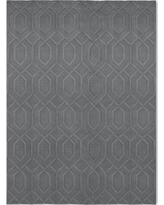 9'X12' Wool Carved Tufted Area Rug Gray - Project 62