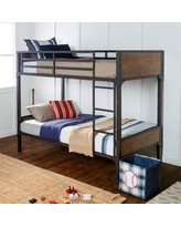 Isabelle & Max™ Artiaga Twin Over Twin Bunk Bed Metal in Black, Size 40.75 W x 77.125 D in   Wayfair 7FFF958CACA64A80BAF699D6C4B4CD29