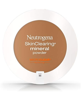 Neutrogena SkinClearing Mineral Acne-Concealing Pressed Powder Compact, Shine-Free & Oil-Absorbing Makeup with Salicylic Acid to Cover, Treat & Prevent Acne Breakouts, Honey 85.38 oz