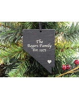 Custom Nevada Black Slate Christmas Ornament- Personalized with Laser Engraving
