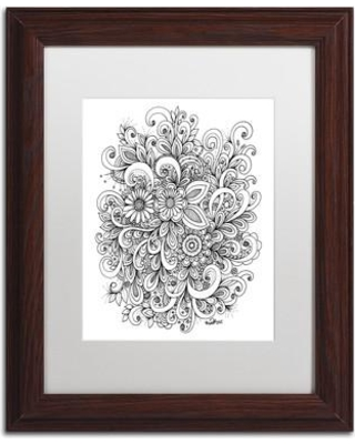 """Trademark Fine Art 'Enchanted Gardens' Framed Graphic Art on Canvas ALI3663-W1 Size: 20"""" H x 16"""" W x 0.5"""" D Matte Color: White"""