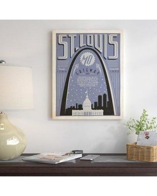 "East Urban Home St. Louis 1002 Poptone Vintage Advertisement on Wrapped Canvas ESRB2933 Size: 10"" H x 8"" W x 1.5"" D"