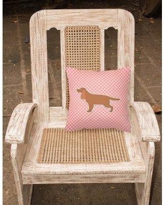 """East Urban Home English Cocker Spaniel Indoor/Outdoor Throw Pillow EAAS4285 Size: 14"""" H x 14"""" W x 3"""" D Color: Pink"""