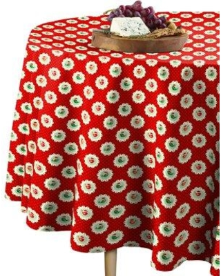 """The Holiday Aisle Kirk Christmas Bird Patches Round Tablecloth W000107009 Size: 108"""" W x 108"""" L"""