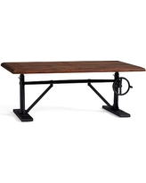 Pittsburgh Crank Coffee Table, Vintage Chestnut