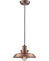 String Light Company VP160 Vintage Pendant Light with Copper Shade and Antique Vintage Bulb Pack of 2