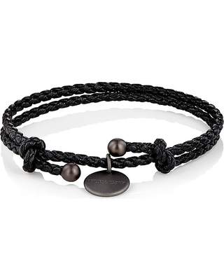 bottega original intrecciato woven leather and black bracelet silver to where men veneta shop
