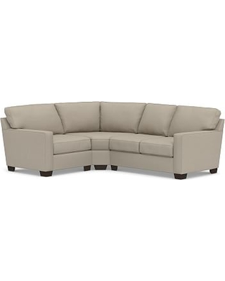 Buchanan Square Arm Upholstered Right Arm 3-Piece Wedge Sectional, Polyester Wrapped Cushions, Performance Brushed Basketweave Sand
