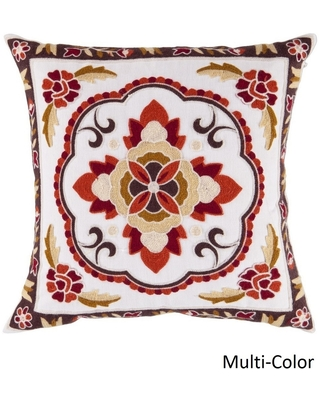 Decorative Sandbach 22-inch Flourish Poly or Feather Down Filled Pillow (Polyester)