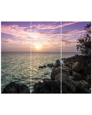 East Urban Home 'Sunset on Seychelles' Photographic Print Multi-Piece Image on Wrapped Canvas FCIV5784